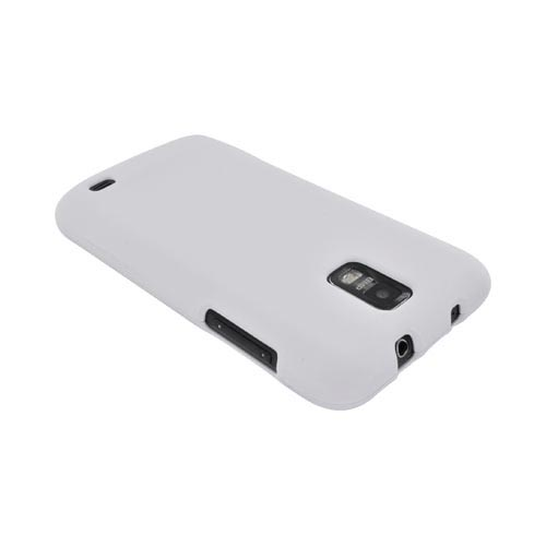 Samsung Galaxy S2 Skyrocket Rubberized Hard Case - Solid White