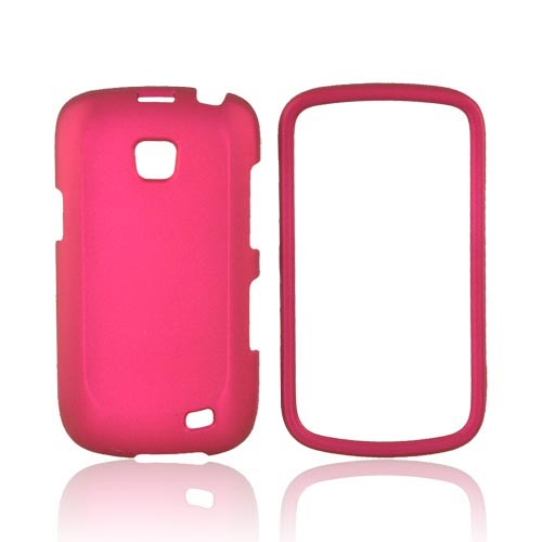 Samsung Illusion i110 Rubberized Hard Case - Rose Pink