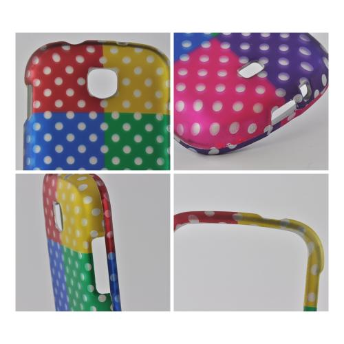 Multi-Colored Artsy Polka Dots Rubberized Hard Case for Samsung Galaxy Stellar