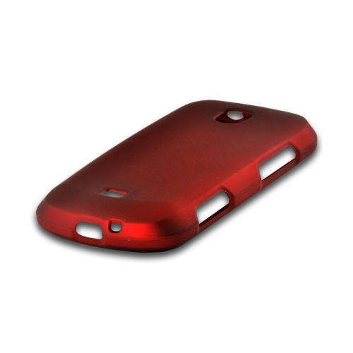 Red Rubberized Hard Case for Samsung Galaxy Stellar