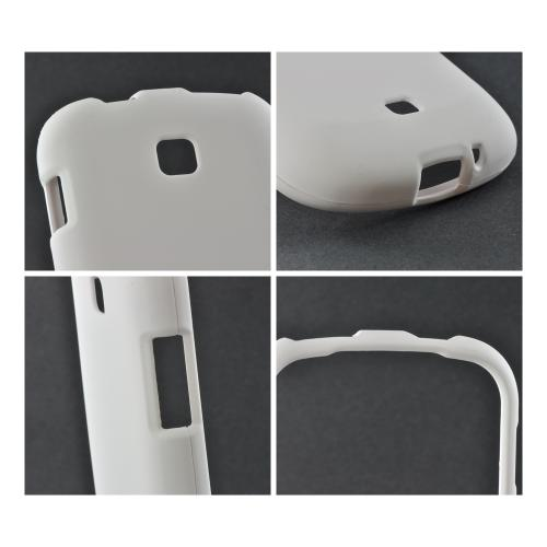 White Rubberized Hard Case for Samsung Galaxy Stellar