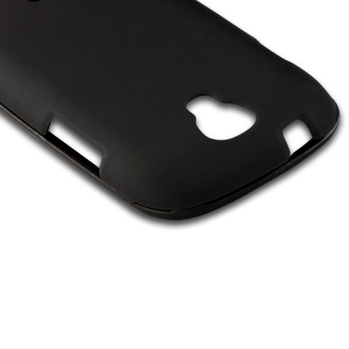 Black Rubberized Hard Case for Samsung Stratosphere 2