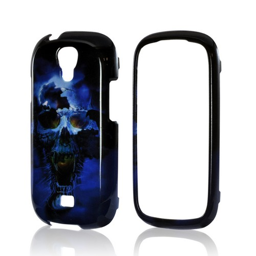 Blue Skull Hard Case for Samsung Stratosphere 2