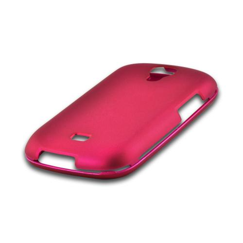 Rose Pink Rubberized Hard Case for Samsung Stratosphere 2