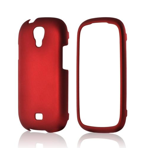 Red Rubberized Hard Case for Samsung Stratosphere 2