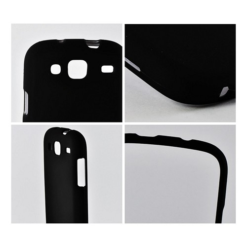 Black Rubberized Hard Case for Samsung Stratosphere 3