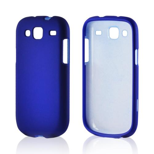 Blue Rubberized Hard Case for Samsung Stratosphere 3