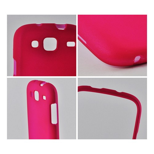 Hot Pink Rubberized Hard Case for Samsung Stratosphere 3