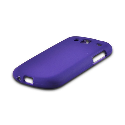 Purple Rubberized Hard Case for Samsung Stratosphere 3