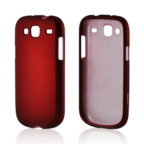 Red Rubberized Hard Case for Samsung Stratosphere 3