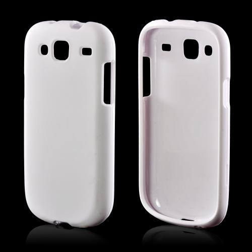 Solid White Rubberized Hard Case for Samsung Stratosphere 3