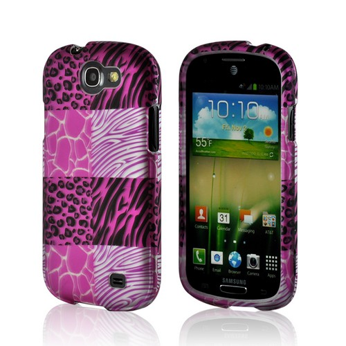 Pink Animal Print Rubberized Hard Case for Samsung Galaxy Express