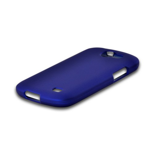 Blue Rubberized Hard Case for Samsung Galaxy Express