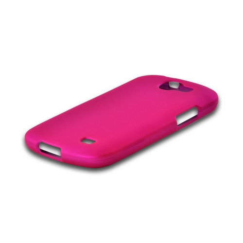 Hot Pink Rubberized Hard Case for Samsung Galaxy Express