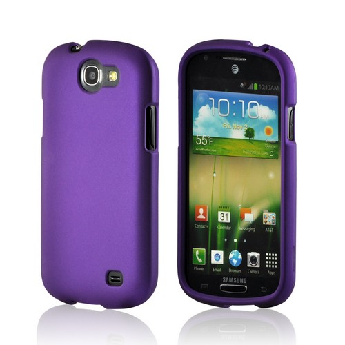 Purple Rubberized Hard Case for Samsung Galaxy Express