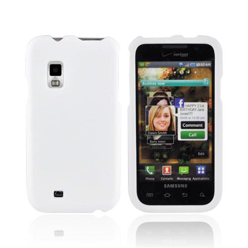 Samsung Fascinate i500 Rubberized Hard Case - White