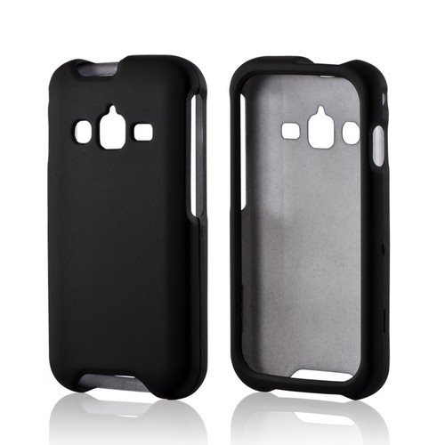 Black Rubberized Hard Case for Samsung Galaxy Rugby Pro
