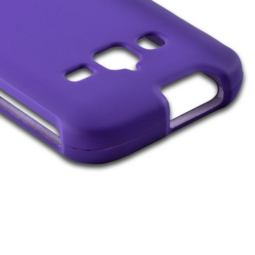 Purple Rubberized Hard Case for Samsung Galaxy Rugby Pro