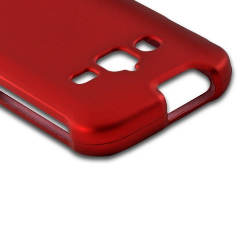 Red Rubberized Hard Case for Samsung Galaxy Rugby Pro