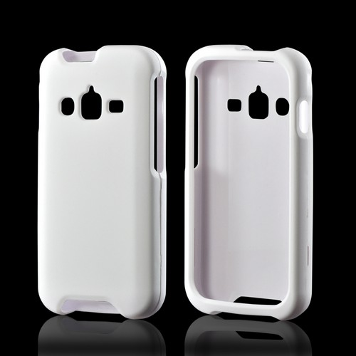 White Rubberized Hard Case for Samsung Galaxy Rugby Pro