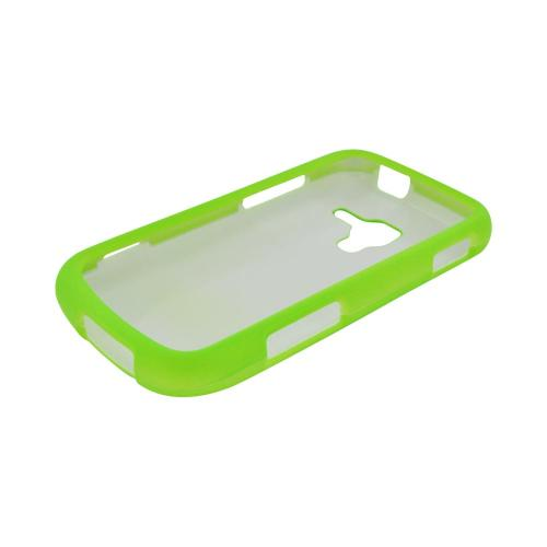 Samsung Exhilarate i577 Rubberized Hard Case - Neon Green