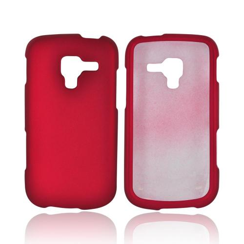 Samsung Exhilarate i577 Rubberized Hard Case - Red