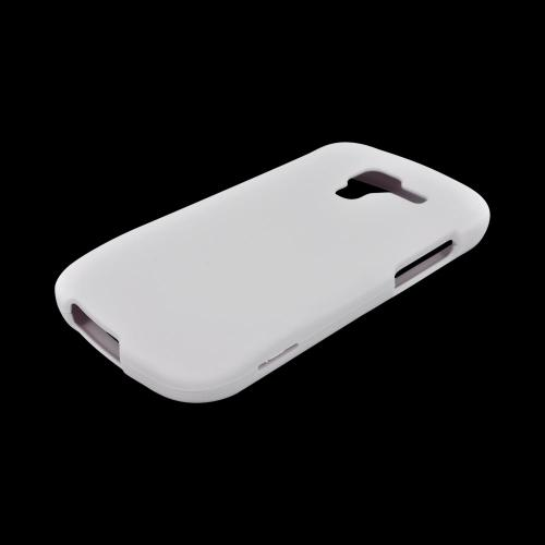 Samsung Exhilarate i577 Rubberized Hard Case - White