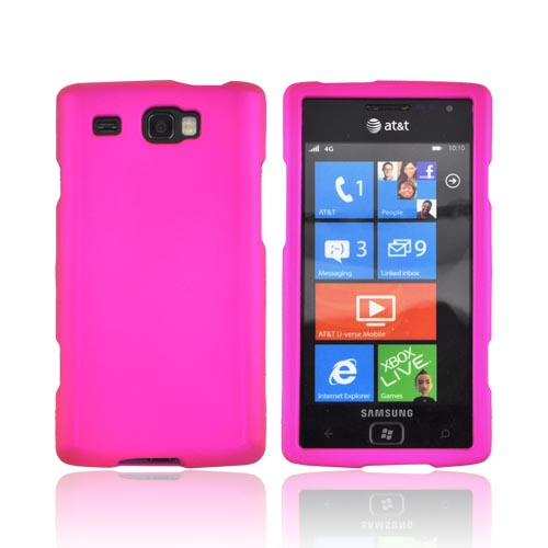 Samsung Focus Flash i677 Rubberized Hard Case - Hot Pink