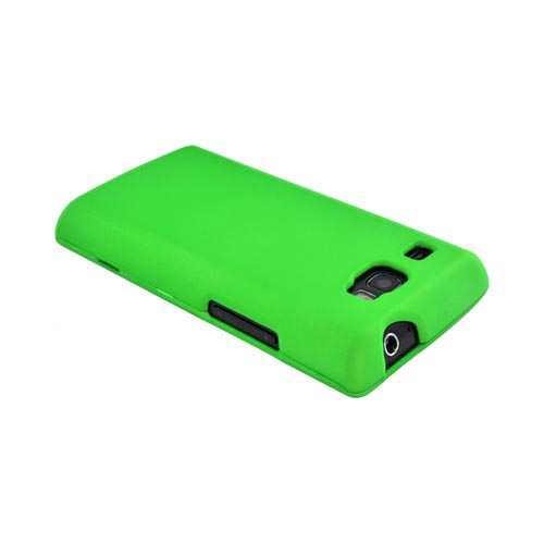 Samsung Focus Flash i677 Rubberized Hard Case - Neon Green