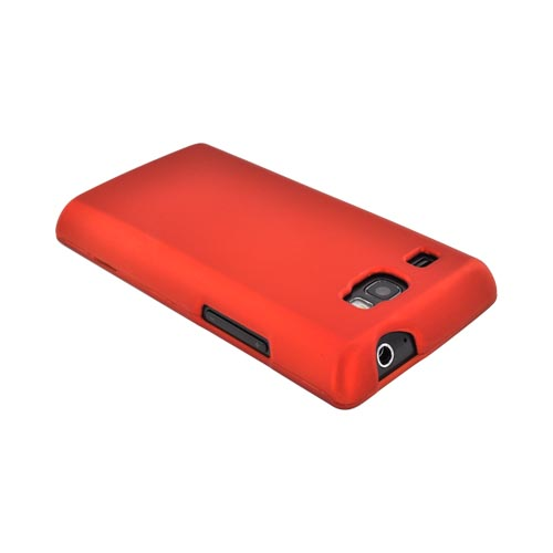 Samsung Focus Flash i677 Rubberized Hard Case - Orange