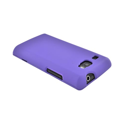 Samsung Focus Flash i677 Rubberized Hard Case - Purple