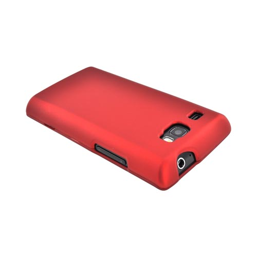 Samsung Focus Flash i677 Rubberized Hard Case - Red