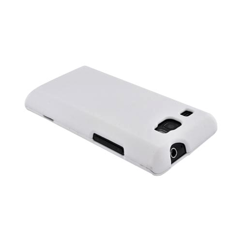 Samsung Focus Flash i677 Rubberized Hard Case - Solid White