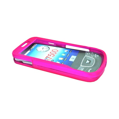 Samsung Galaxy I7500 Rubberized Hard Case - Hot Pink
