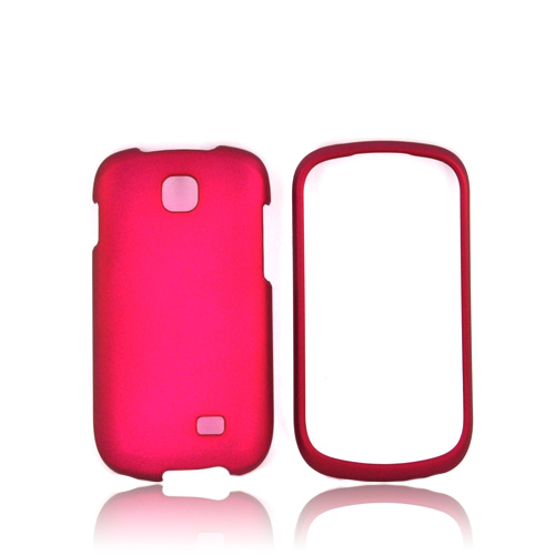 Samsung Galaxy Appeal Rubberized Hard Case - Hot Pink