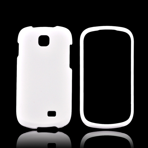 Samsung Galaxy Appeal Rubberized Hard Case - White