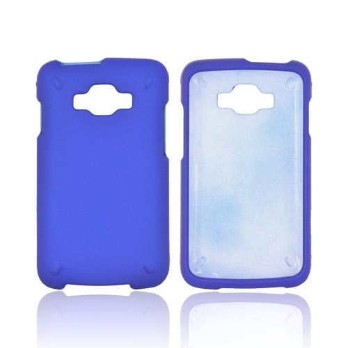 Samsung Rugby Smart i847 Rubberized Hard Case - Blue