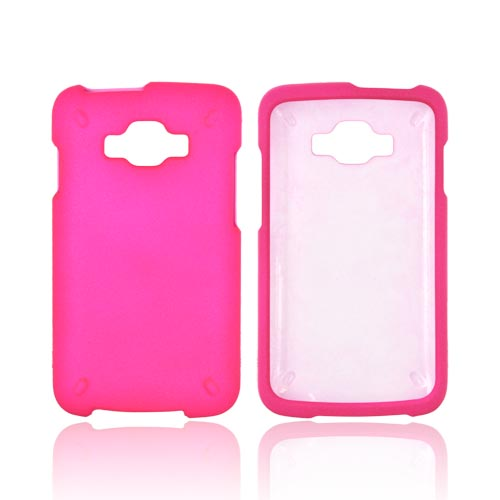 Samsung Rugby Smart i847 Rubberized Hard Case - Hot Pink