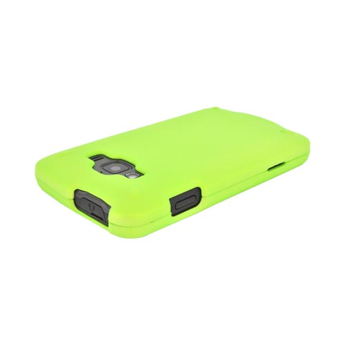 Samsung Rugby Smart i847 Rubberized Hard Case - Neon Green