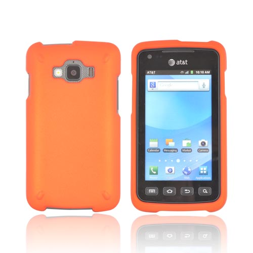 Samsung Rugby Smart i847 Rubberized Hard Case - Orange