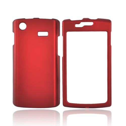 Luxmo Samsung Captivate i897 Rubberized Hard Case - Red