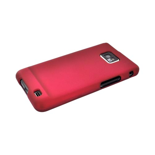 AT&T Samsung Galaxy S2 Rubberized Hard Case - Rose Pink