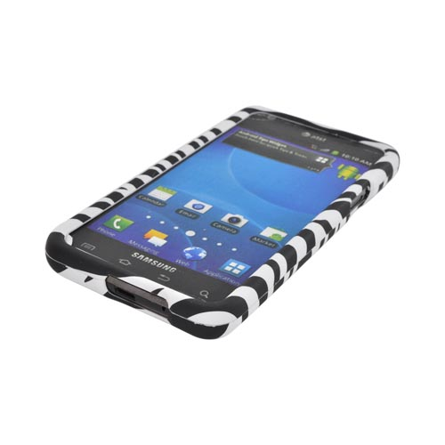 AT&T Samsung Galaxy S2 Rubberized Hard Case - Black/ White Zebra