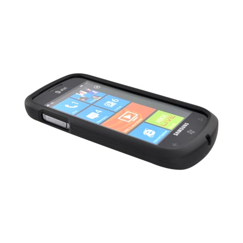Samsung Focus i917 Rubberized Hard Case - Black