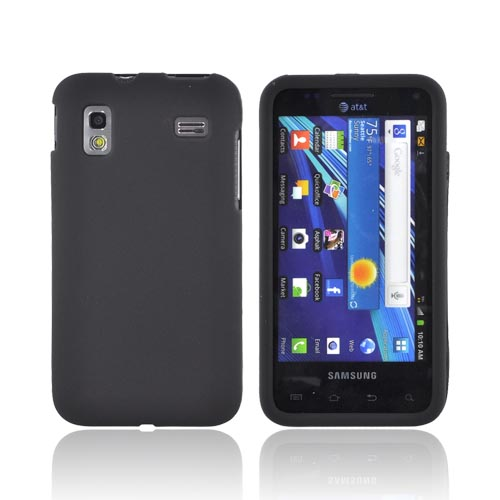 Samsung Captivate Glide i927 Rubberized Hard Case - Black