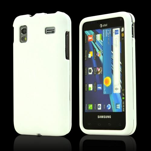 Samsung Captivate Glide i927 Rubberized Hard Case - Solid White