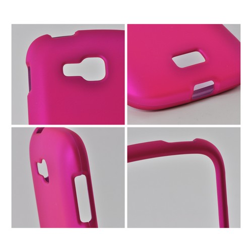 Hot Pink Rubberized Hard Case for Samsung ATIV Odyssey