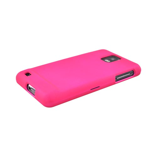 Samsung Infuse i997 Rubberized Hard Case - Hot Pink