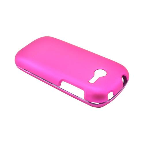 Samsung Array M390 Rubberized Hard Case - Hot Pink