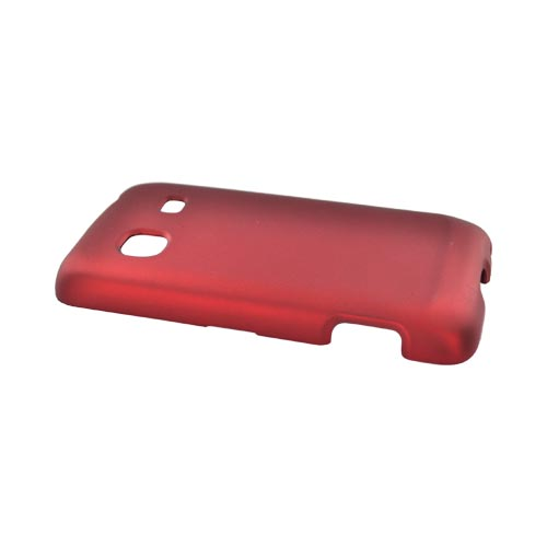 Samsung Galaxy Prevail M820 Rubberized Hard Case - Red